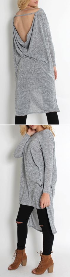 Love this casual style.recommend the Grey Side Slit High Low Cut-out Back Dress , sale only $12.99, it's authentic and quite nice.