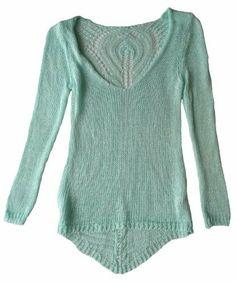 Damen Pullover, V-Ausschnitt, filigranes Strickmuster mit leicht verlängerter Rückenpartie, verschiedene Farben, One Size/geeignet bis Größe 38 Vexcon, http://www.amazon.de/dp/B00F43Q3K4/ref=cm_sw_r_pi_dp_ESUstb0JPZ7G0