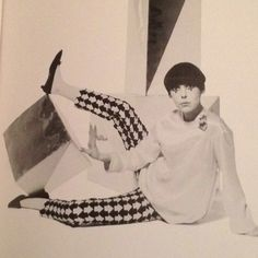 Peggy Moffit in lingerie designed by Tzaims Luksus. Pierrot Clown Look. Vintage Photo.
