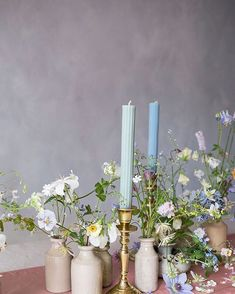STUDIO | SPRING  Garden cuttings & @matildagoad scalloped dinner candles Spring Wedding Decorations, Reception Decorations, Candle Centerpieces, Wedding Centerpieces, Flowers For Everyone, Blue Candles, Flower Studio, Wedding Table Settings, Floral Bouquets