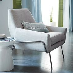 Sleek mid century chair Lucas Wire Base Chair | west elm