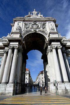 Arco Triunfal da Rua Augusta, Praça do Comércio, Lisboa, Portugal