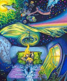 Dream, psychedelic image: