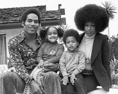 O.J. with his first wife and kids.