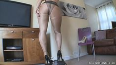 pantyhose ass workout in tights and heels - Daniella in pantyhose videos