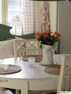 keittiö,maalaisromanttinen,kevät,ruusut