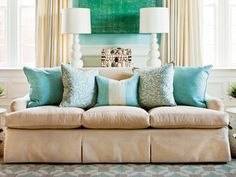 How To Arrange Sofa Pillows | SouthernLiving