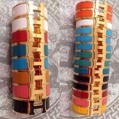 Hermes Clic Clac bracelet stacks....