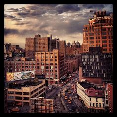 A view from the top of Hotel Gansevoort in NYC, Meatpacking District.