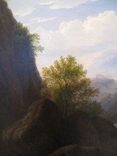 Antonín Mánes - Mountainous landscape (around 1820) #RomanticRealism #painting #Czechia #art Medieval, Abstract Art, Country Roads, Painting, Sunset, Garden, Outdoor, Sunsets, Outdoors