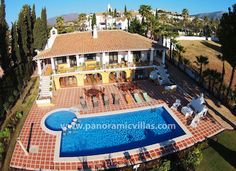 Villa of the Week, Superb 5 Bed Villa in Mijas Golf, #Spain with games room, gym, sauna, WiFi, air con and Sky TV. #Offer