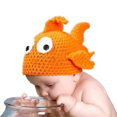 >> Click to Buy << Newborn Baby Fish Cap Children Crochet Soft Knitting Costume Goldfish Hat Photography Prop #Affiliate