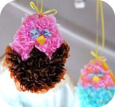 Fluffy Tissue Easter Chicks ~ Kids Craft.... http://rosinahuber.blogspot.com/2011/04/fluffy-tissue-easter-chicks-kids-craft.html