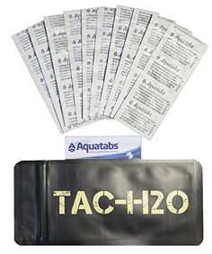 Camping Chemical Water Treaters - TACH2O Refill  100 Aquatab Water Purification Tablets  By TacBar Tactical Food Rations ** You can get additional details at the image link.