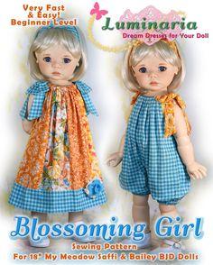Dianna Effner Boneka PDF Doll Clothes Dress Pattern Fits 10 Iplehouse BID Tonner Patsy Fairyland Littlefee YoSD BJD 10 Doll Luminaria