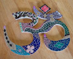 """Custom Om Mosaic Ooak Made to Order 15"""" by zzbob on Etsy"""