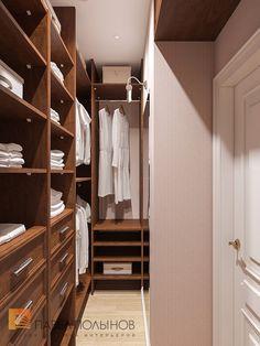 Фото дизайн гардеробной из проекта «Дизайн квартиры 74 кв.м. в стиле американской классики, ЖК «Платинум»»