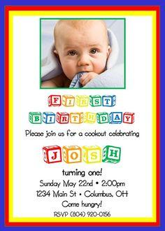 Alphabet baby blocks birthday or shower  by delightfulprints, $12.00