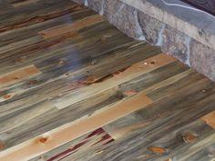 Some of the most beautiful flooring - Beetle kill pine wood Timber Wall Panels, Timber Walls, Wide Plank Flooring, Diy Flooring, Flooring Ideas, Pine Beetle, Pine Design, Refinishing Hardwood Floors, Pine Floors