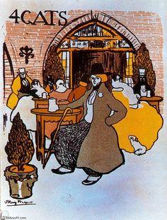 Menú de Els Quatre Gats, óleo de Pablo Picasso (1881-1973, Spain)