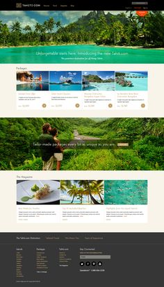 Tahiti.com Website Redesign home page