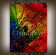 Art of music Guitar Painting by Nandita Arts Guitar Painting, Music Painting, Music Guitar, Contemporary Art, Abstract Art, Artist, Artwork, Work Of Art, Auguste Rodin Artwork