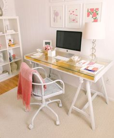Gold Leafed Ikea Desk Hack