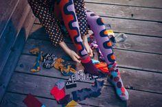 Marimekko patterned tights and socks