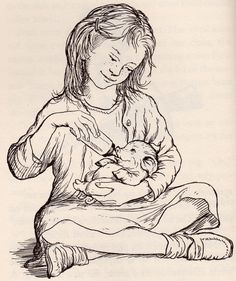 Picture of Wilbur and Fern from Garth Williams illustration in Charlotte's Web. Garth Williams illustrated the Little House books also. Garth Williams, Children's Book Illustration, Book Illustrations, Illustration Children, Children's Literature, Childrens Books, Coloring Pages, Colouring, Adult Coloring