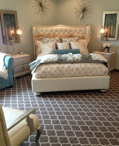 Master Bedroom Featuring Tuftex Carpet By Shaw Floors