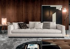 "Smink Incorporated | Products | Sofas | Minotti | Andersen Line Quilt 97"" W x 40"" D x 28"" H"