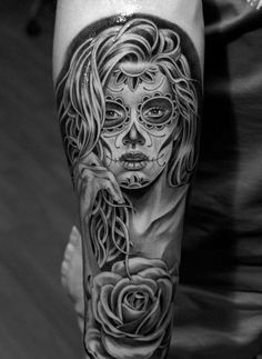 Day of the Dead Tattoos are originating from a holiday (Dia de los Muertos) that falls at the end of October, overlapping with Halloween, and ends on... #inkdoneright#tattoo#tattoos#inked#art#inkedgirls#tattooed #tattooedgirls