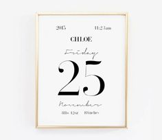 Personalized Birth Stats for babies-Custom Baby Birth Announcement Print-Girls or Boys Nursery Art-Minimalist Wall Decor-Affiche Scandinave