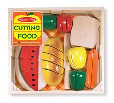 Introduce your child to the basic concepts of fractions with this Melissa & Doug Cutting Food Set. The set contains 8 pieces of wooden food, cutting board, and wooden knife that teaches your little one concepts of whole and parts during imaginative play. Pretend Grocery Store, Bb Reborn, Wooden Play Food, Play Food Set, Baby Shop Online, Uk Online, Melissa & Doug, Toy Kitchen, Imaginative Play