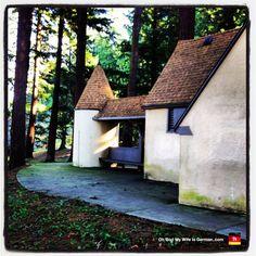 Historical house (public bathroom) on Mt. Tabor in Portland, Oregon.
