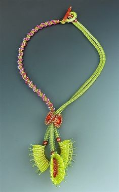 venus fly trap necklace by Laura Mcabe