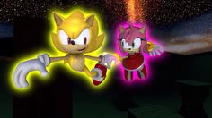 Remake of Sonamy magical night by me. Put some details on Amy's hair/quills Sonic and Amy belong to SEGA