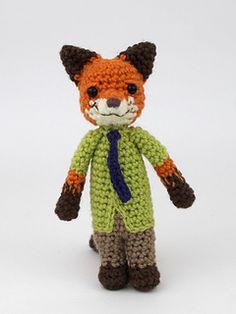 Nick Wilde from Zootopia Nick Wilde, Zootopia, Crochet Animals, Vulnerability, Ravelry, Knit Crochet, Crochet Patterns, Fox, Teddy Bear