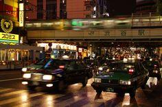 Tokyo - Les cabs japonais.