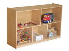 "S304805BIR Kids' Station 30"" 5 Sect Preschool Cabinet, Fully Assembled from Factory Select"