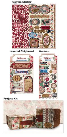 Love & Lace collection embellishments & project kit from BoBunny.