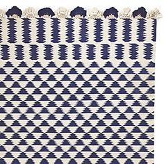 Navy/Ivory Zig Cotton Dhurrie Rug from Serenaandlily.com