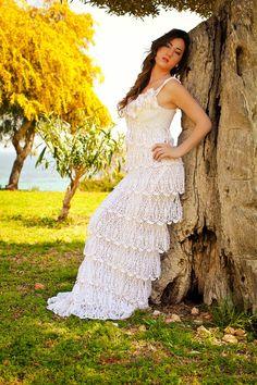 Vestido de novia exclusivo del ganchillo con por LecrochetArt