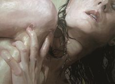 Born 1977 in Ridgewood, New Jersey, Alyssa Monks began oil painting as a child. Monks' paintings explore the tension between abstraction and realism, using different filters to visually distort and disintegrate the body.