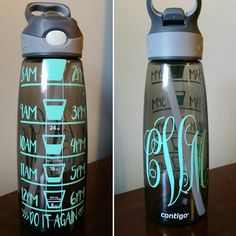 Make tracking your daily water intake a breeze with this super cute water bottle!