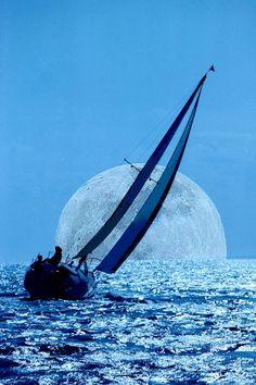 """Moonlight Sailing"" photo by Sherwood Burton"