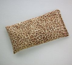 Aromatherapy Eye Pillow  lavender / flax seeds  Cheetah by Laa766  relaxation / relieve tension and stress / relax your eyes / lavender scented or unscented / #EtsyGifts