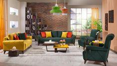 2016 en şık yeşil sarı koltuk takımı tasarımları