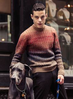 Great sweater. Bloomberg Interview and Fashion Editorial with lead actor Rami Malek of Mr.Robot. More Fashion Trends and trending outfits @ www.pinterest.com/rickysturn/mens-fashion