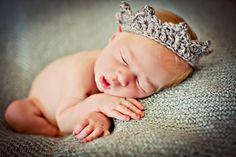Newborn Baby Photo Prop Crown by MitziKnitz on Etsy, $12.00